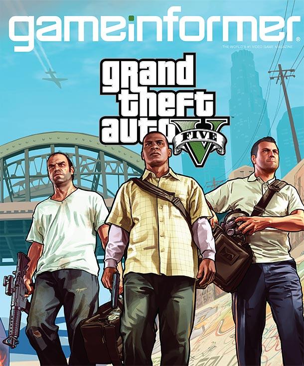 CoverReg610 کاور مجله Gameinformer رونمایی شد: سه شخصیت اصلیGTA V خودنمایی میکنند