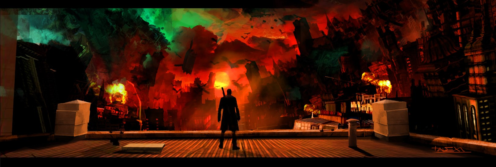 Devil May Cry Artworks 7 تصاویرهنری جدید Devil May Cry نشان از ذوق هنری در بازی میدهد