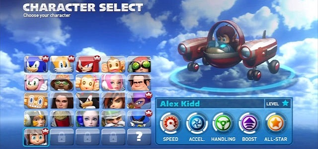 sonic all stars racing transformed unlockable characters سونیک ، پشت فرمون | نقد و بررسی بازی Sonic & All Stars Racing Transformed