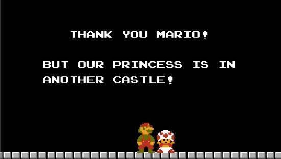 Our Princess is in Another Castle سخنهای ماندگار در بازی های رایانه ای