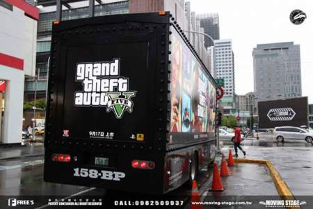 gta v truck ad taiwan image 2 تبلیغات گسترده ی عنوان GTA V در پایتخت کشور تایوان