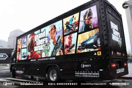 gta v truck ad taiwan image 3 تبلیغات گسترده ی عنوان GTA V در پایتخت کشور تایوان