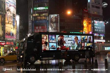 gta v truck ad taiwan image 4 تبلیغات گسترده ی عنوان GTA V در پایتخت کشور تایوان