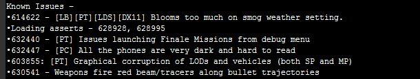 GTA 5 bug list 2 در گزارشات باگهای GTA V اطلاعاتی از نسخهی PC و اثرات DirectX 11 بر روی بازی دیده میشود