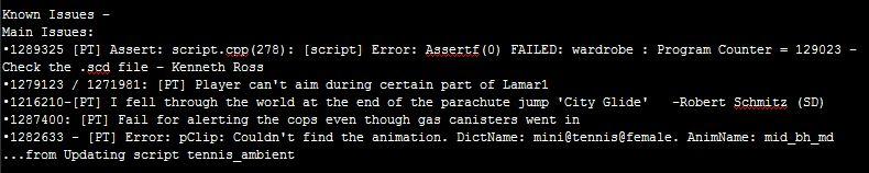 GTA 5 bug list در گزارشات باگهای GTA V اطلاعاتی از نسخهی PC و اثرات DirectX 11 بر روی بازی دیده میشود