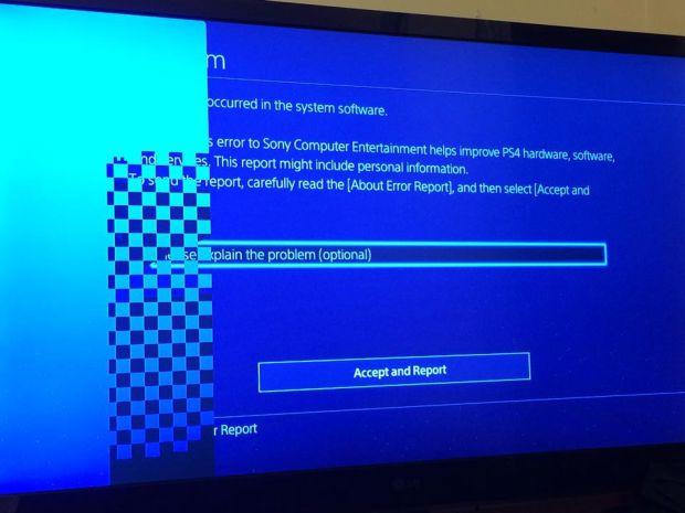 PS4 CE 34878 0 مشکل جدیدی برای دارندگان PS4 | صفحه شطرنجی می شود