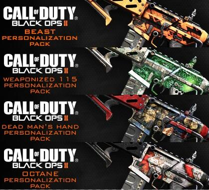 Call of Duty Black Ops 2 weapon camos اطلاعات جدیدی از Personalization Pack جدید Call Of Duty: Ghosts منتشر شد