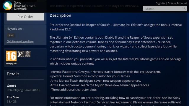 diablo III Ultimate Evil Edition ps4 install size فضای مورد نیاز برای نصب بازی Diablo III: Ultimate Edition مشخص شد