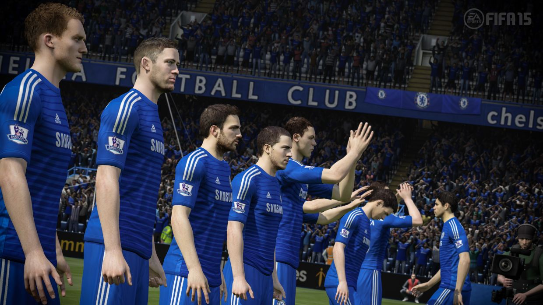 fifa15 xboxone ps4 barclayspremierleague chelsea wm تصاویر جدید منتشر شده از FIFA 15 چگونگی رفتار بازیکنان لیگ انگلستان در ورزشگاه ها را نشان می دهد