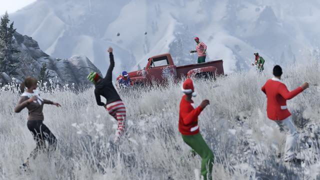 actual 1418914366 با GTA Online برف بازی نیز به  Los Santos می آید | یک کریسمس فوق العاده