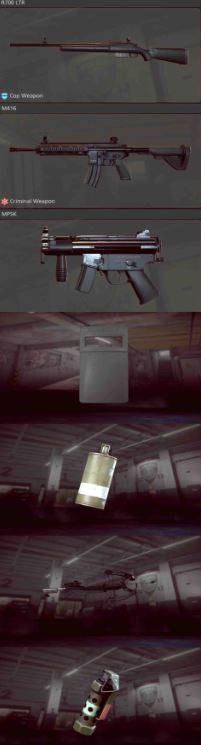 تعدادی از اسلحه ها، آیتم ها و گجت های بازی