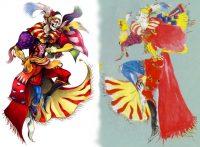 جناب کفکا ! طراحی سمت راست توسط آقای آمانو و طراحی سمت چپ توسط آقای نامورا .