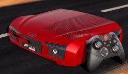 تماشا کنید: ایکسباکس وان اس با طرح خودرو Audi R8 | زشتترین ایکسباکس وان؟