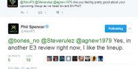 اسپنسر از کنفرانس مایکروسافت در E3 2017 میگوید