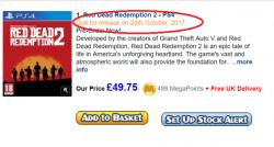 خردهفروشی Gameseek تاریخ انتشار Red Dead Redemption 2 را لو داد