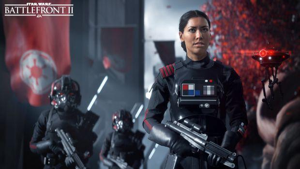 پوسترهای بزرگ Star Wars: Battlefront 2 در حال نصب در محل برگزاری E3 2017 هستند