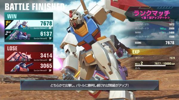 اولین بهروزرسانی بزرگ Gundam Versus منتشر شد