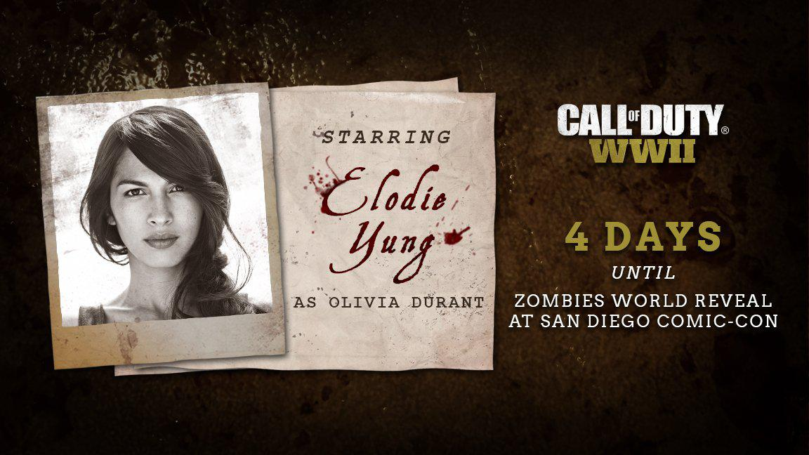 الودی یانگ در بخش زامبی Call of Duty: WW2 نقش دارد