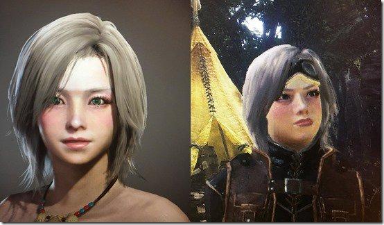 چهره شخصیتهای ساخته شده در Monster Hunter World با ظاهر آنها در بازی بسیار متفاوت است