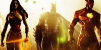 پوستر لو رفته از Injustice: Gods Among Us 2 بتمن در برابر فلش را نشان میدهد