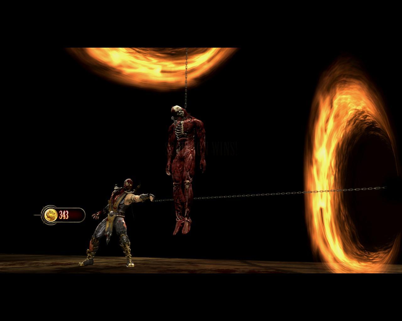 یکی از Fatality های خونین Scorpion