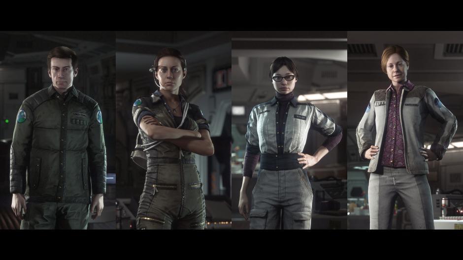به ترتیب از چپ به راست: ساموئلز، ریپلی، تیلور و ویرلین