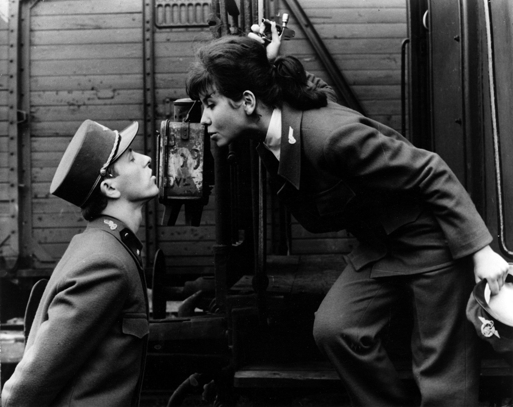 """he Academy of Motion Picture Arts and Sciences presents a special screening of the 1967 Foreign Language Film Oscar® winner """"Closely Watched Trains"""" on Monday, September 23, at 7:30 p.m. at the Samuel Goldwyn Theater in Beverly Hills. Pictured: Vaclav Neckar and Jitka Bendova in CLOSELY WATCHED TRAINS, 1966."""