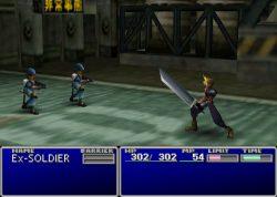 نمونه ای از صحنه مبارزه در FF7