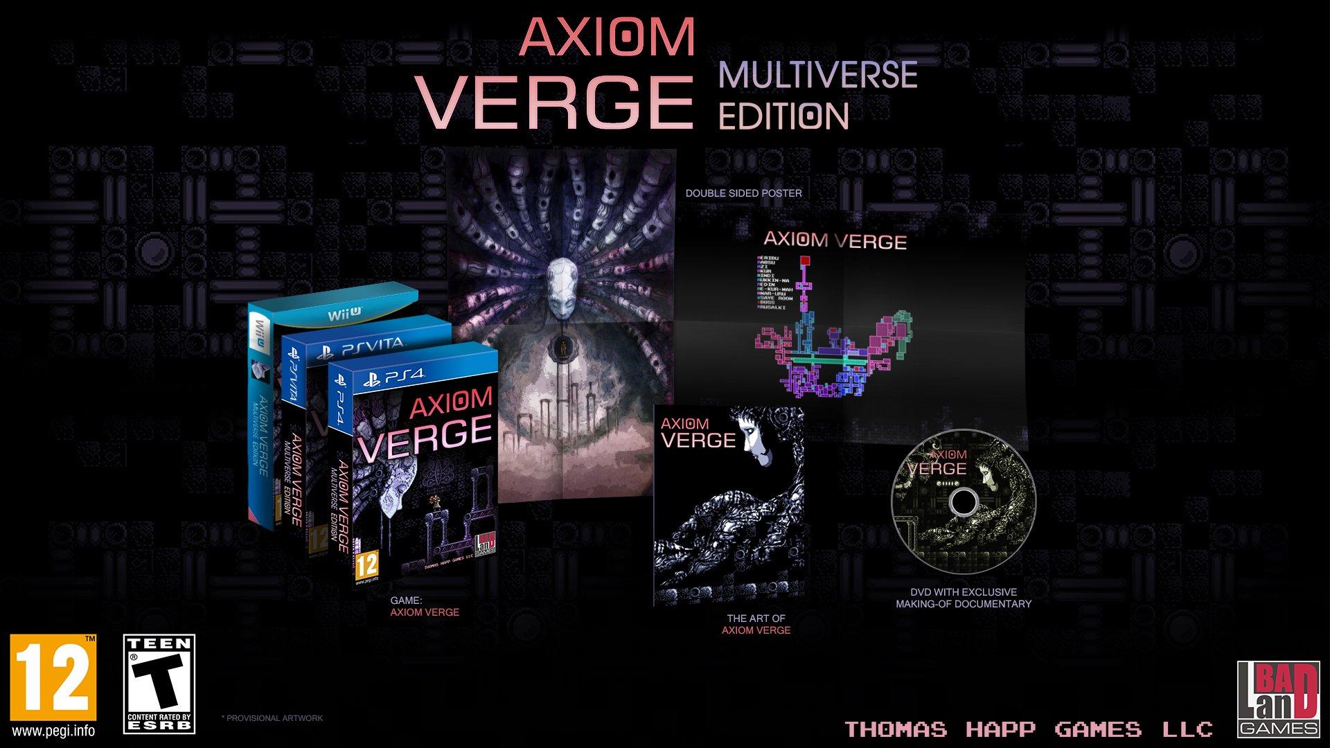 بازی Axiom Verge برای نینتندو سوییچ نیز به صورت فیزیکی عرضه خواهد شد