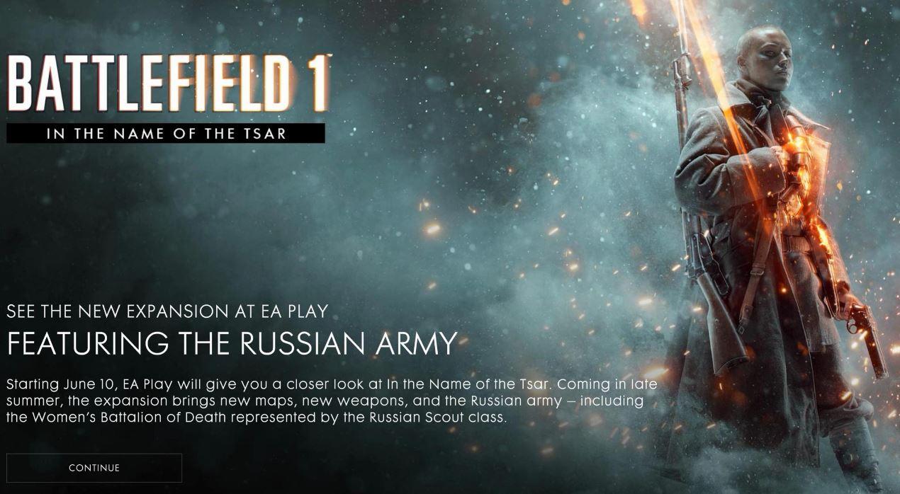 سرباز های زن در دومین بسته الحاقی عنوان Battlefield 1 به بازی اضافه خواهند شد