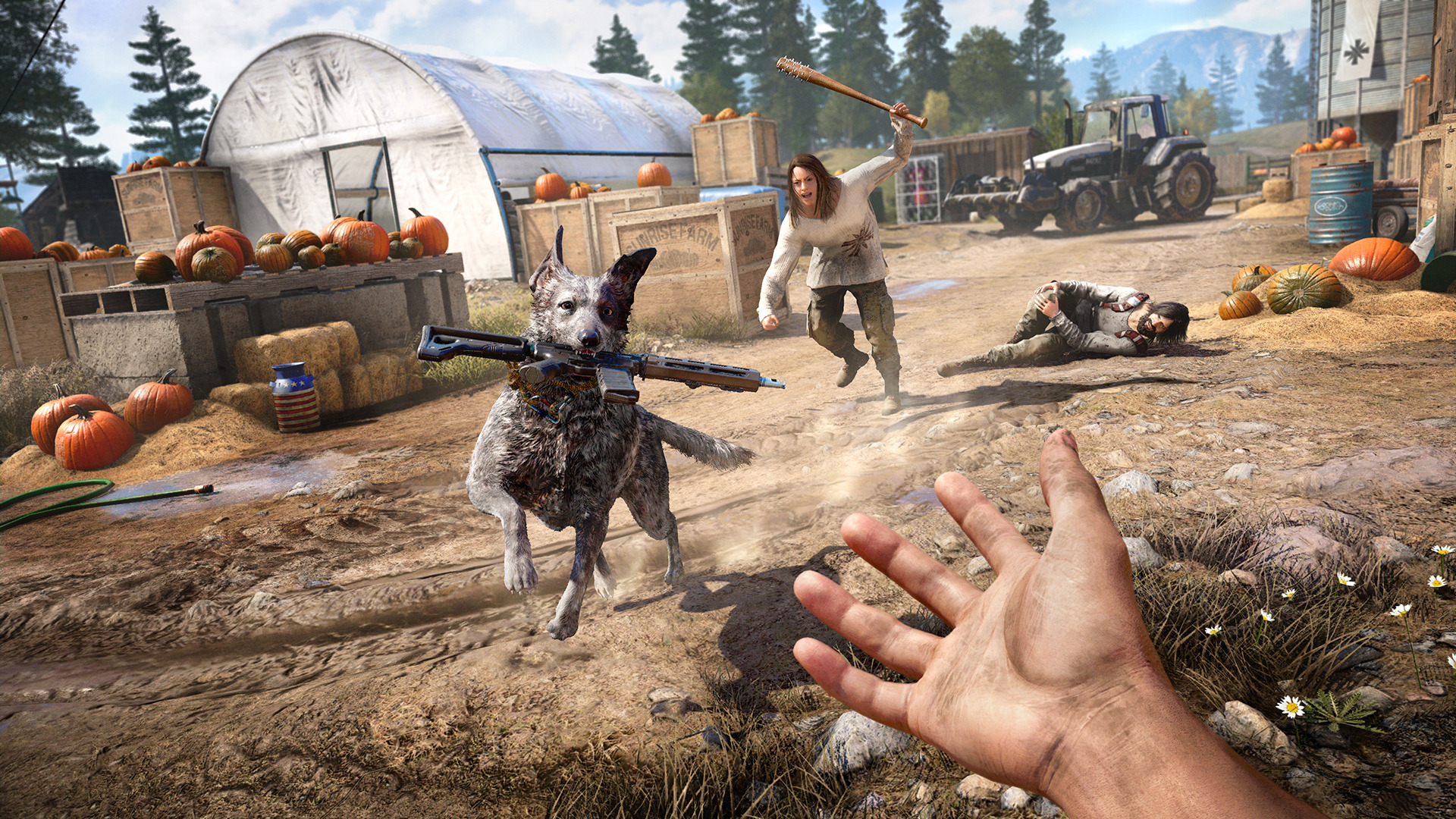 3247307 fc5 screenshots dog 170612 215pmpt 1497256400 - فروش بازی Far Cry 5 Deluxe Edition پلی‌استیشن ۴