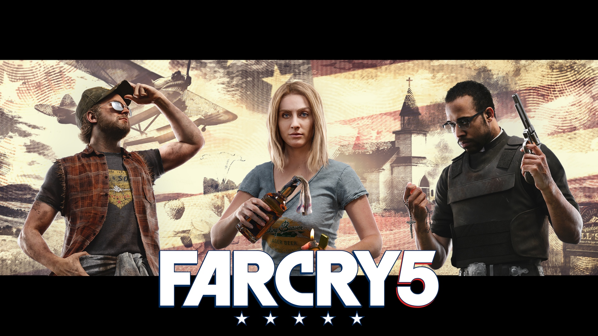 far cry 5 game characters nick mary jerome 2106 - فروش بازی Far Cry 5 Deluxe Edition پلی‌استیشن ۴