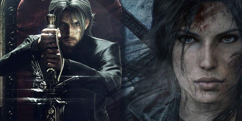 کراساور بازی Final Fantasy XV با عنوان Shadow of the Tomb Raider