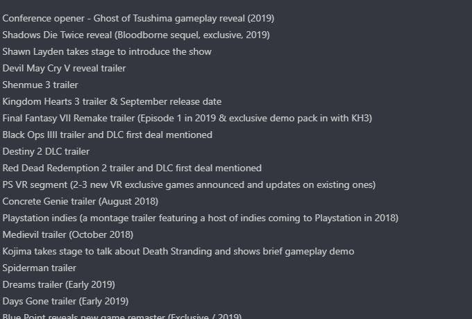 شایعه: برنامههای کنفرانس خبری سونی در رویداد E3 2018 فاش شد