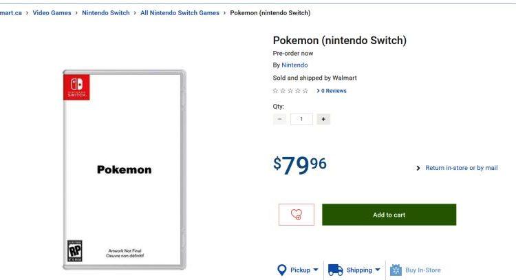 بازی Pokemon برای کنسول نینتندو سوئیچ لیست شد