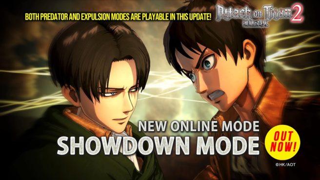 حالت جدید Showdown به Attack on Titan 2 اضافه شد