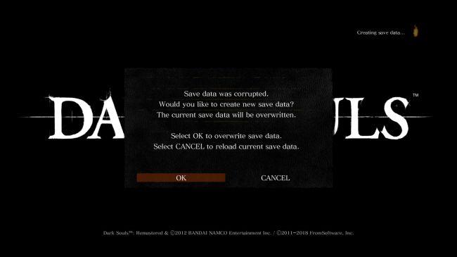 نرمافزارهای ویروسیاب به فایل ذخیرهی بازی Dark Souls Remastered آسیب میرسانند