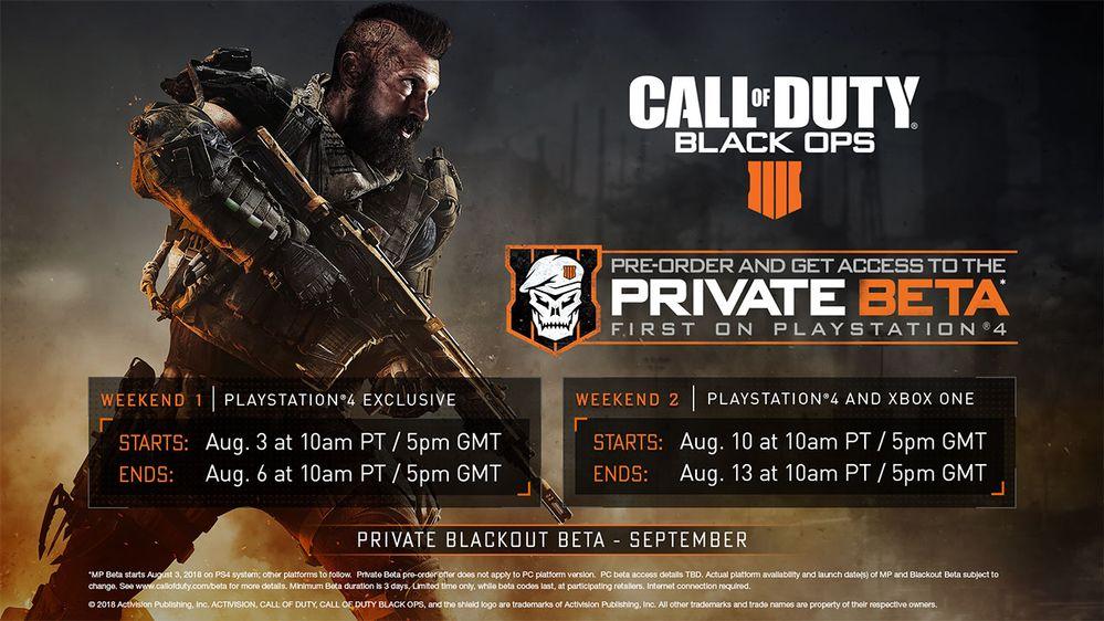 بتای بخش چندنفره Call of Duty: Black Ops 4 اوایل ماه آینده آغاز خواهد شد