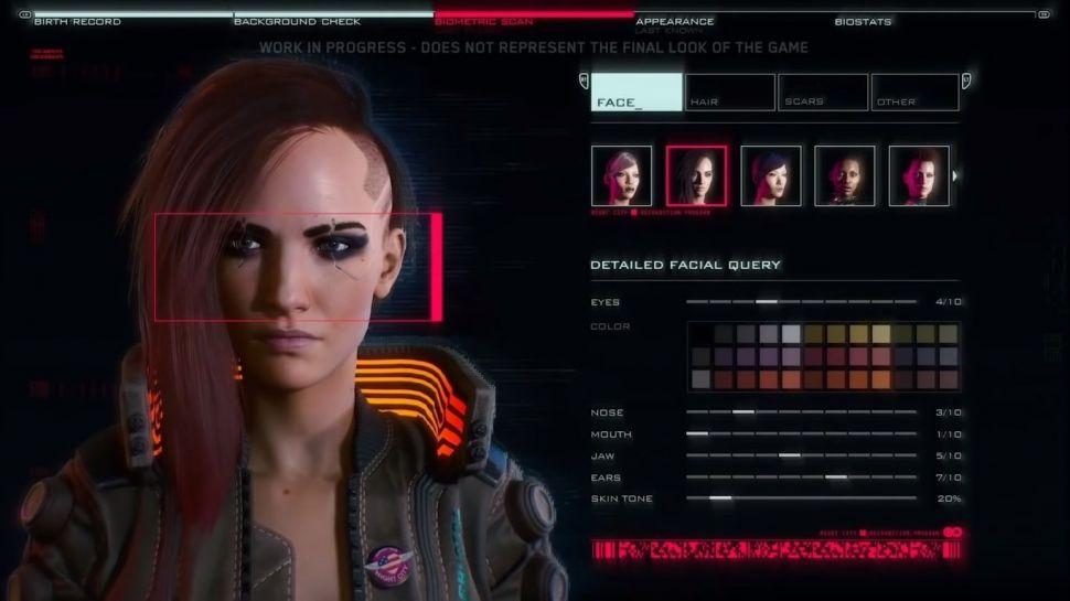 تنظیمات خلق شخصیت در بازی cyberpunk2077 محدود به جنسیت نمی شود.
