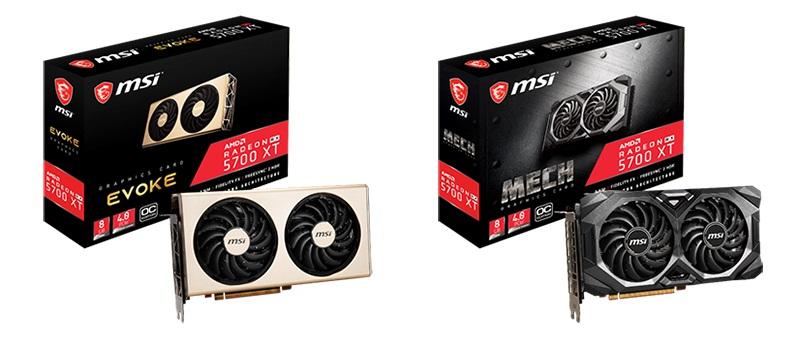 MSI کارتهای گرافیک کاملاً جدید Radeon RX 5700 EVOKE و MECH را معرفی کرد