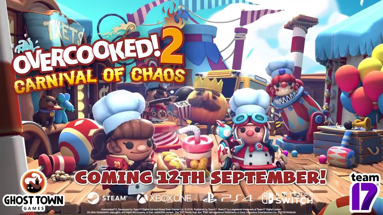 از بستهی الحاقی جدید Overcooked 2 با نام Carnival of Chaos رونمایی شد
