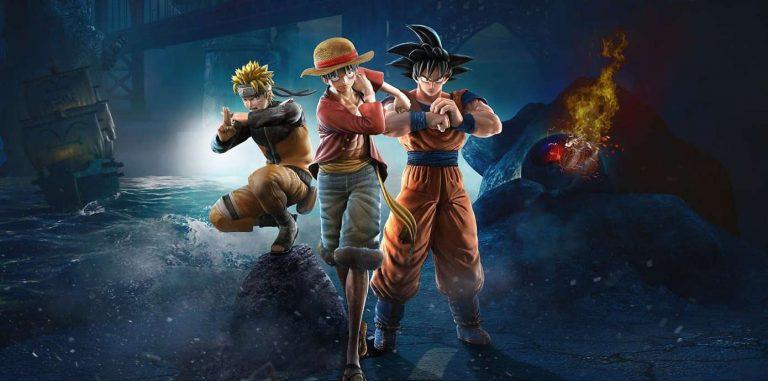 [تصویر:  Jump-Force-Cover-Luffy-Goku-Naruto-768x381.jpg]