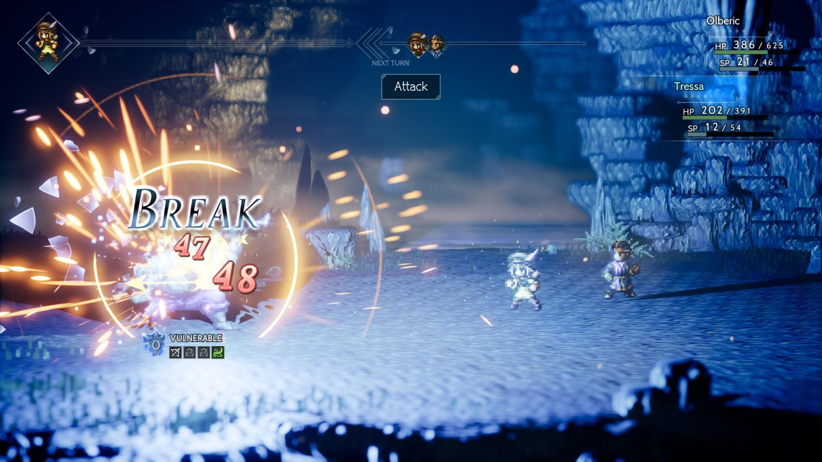 Octopath Traveler Breaking Enemy Defense