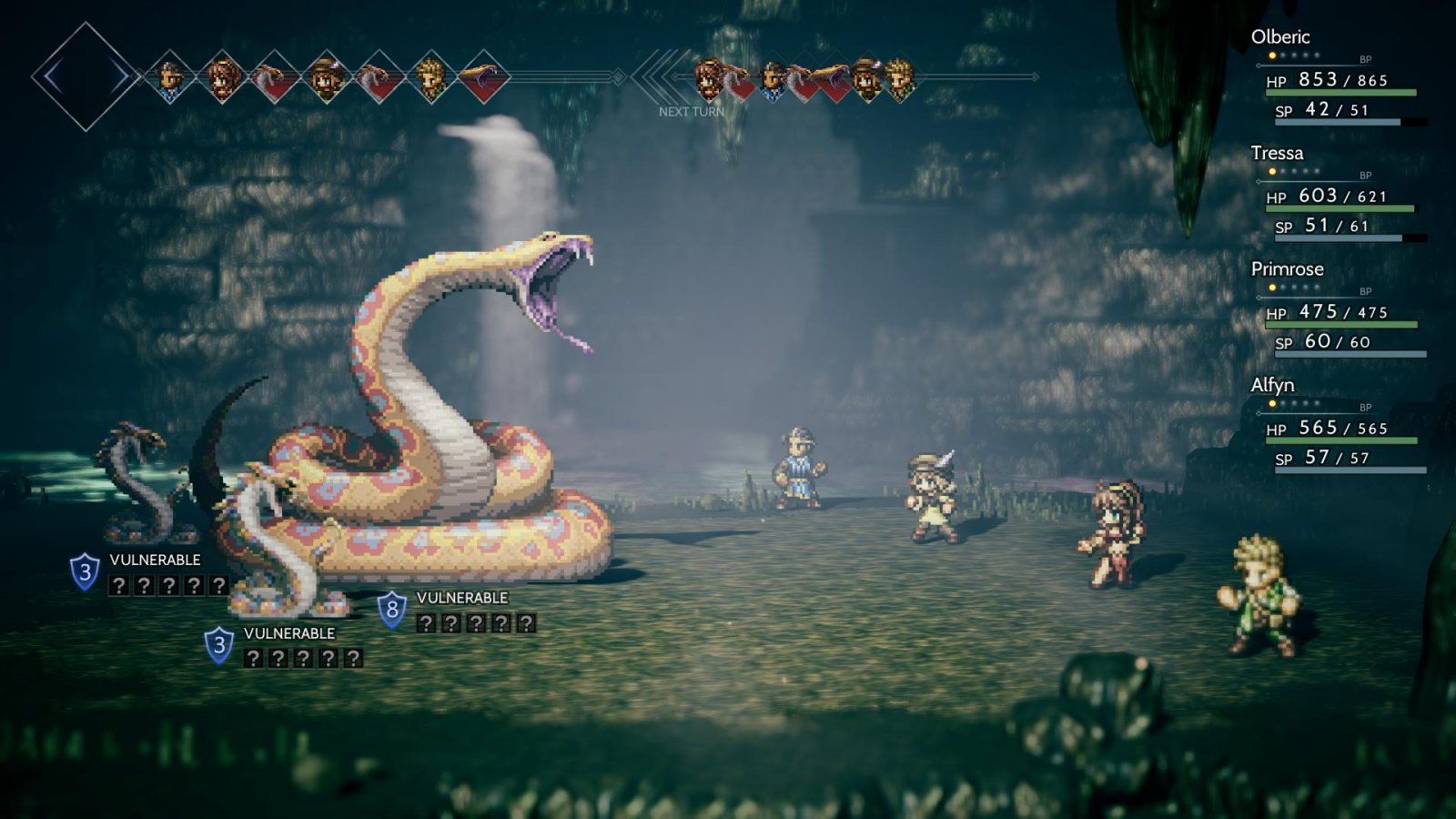 Octopath Traveler Giant Snake