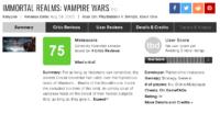 نقدها و نمرات بازی Immortal Realms: Vampire 5