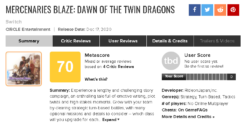 بازی Mercenaries Blaze: Dawn of the Twin Dragons