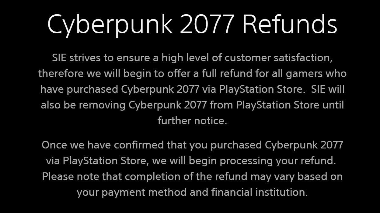 بیانیه شرکت سونی در رابطه با بازی Cyberpunk 2077