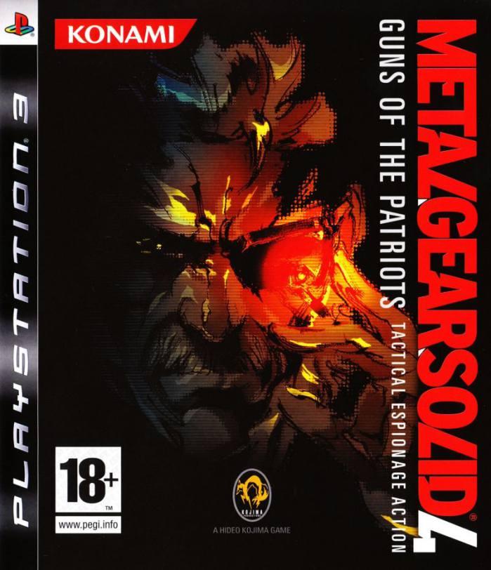 تصویر روی جلد بازی Metal Gear Solid 4: Guns of the Patriots