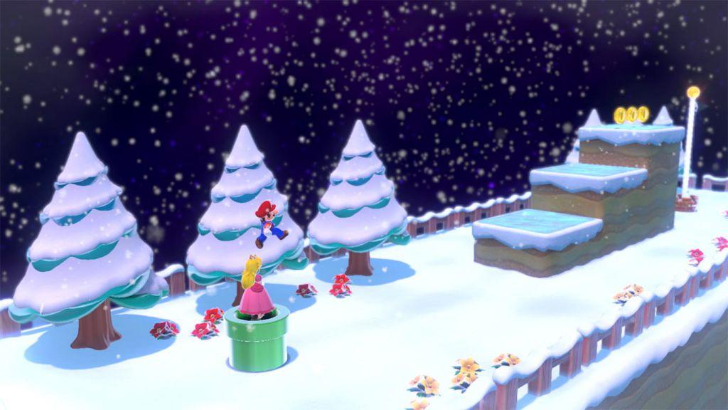 Super Mario 3D World + Bowser's Fury - محیط برفی